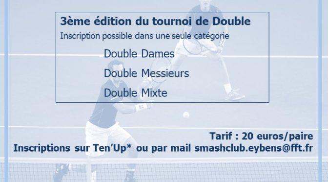 3ème édition du tournoi de double